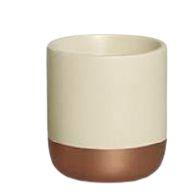 Cachepot P Marfim e Bronze