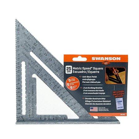 SWANSON - Esquadro métrico 25cm - NA202