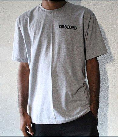 Camiseta OBSCURO Mini Logo Cinza