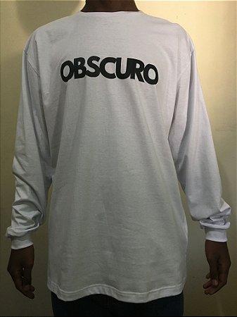 Camiseta Manga Longa OBSCURO Black Branca