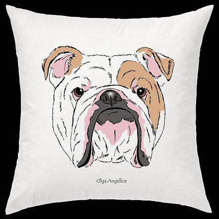 Almofada Bulldog Inglês da artista Olga Angelloz