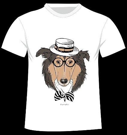 Camiseta Collie da artista Olga Angelloz