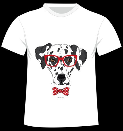 Camiseta Dálmata da artista Olga Angelloz