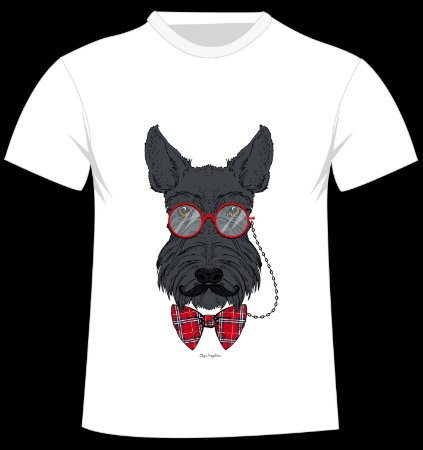 Camiseta Scottish Terrier da artista Olga Angelloz