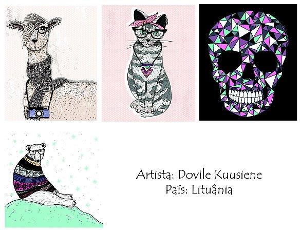 Obras da artista lituana Dovile Kuusiene