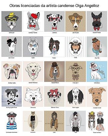 "Cachorros e ""Humanimals"" da artista francesa Olga Angelloz"