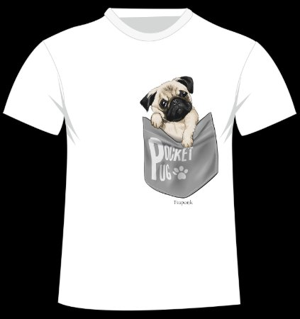 Camiseta Pug do artista Tsuponk