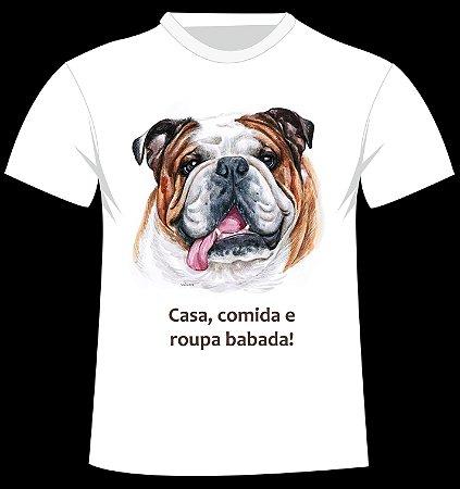 Camiseta Bulldog - Roupa Babada