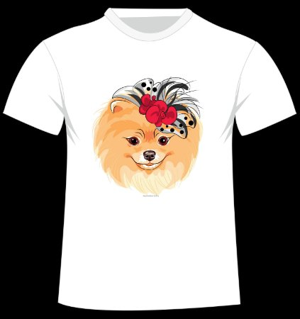 Camiseta Spitz da artista bielorrussa Kavalenkava Volha