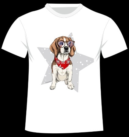 Camiseta Beagle do artista Logaryphmic
