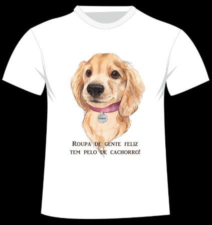 Camiseta Golden Retriever personalizada com nome
