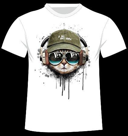 Camiseta Gato de Fone
