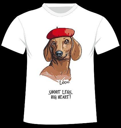 Camiseta Dachshund personalizada com nome