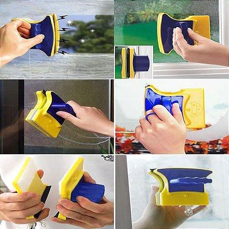 Limpador de Vidros Magnético ótimo para Limpar Vidros de Apartamentos e Aquarios