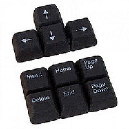 Borracha com formato de teclas preta - Keyboard Erasers