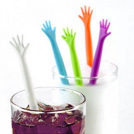 Mexedores de Drink High Five com 5 Peças