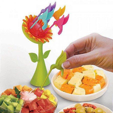 Palitos para Petiscos Girassol com 5 Palitos Beija-flor