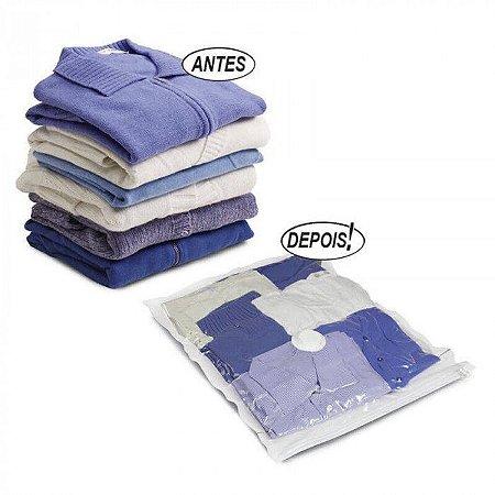 Saco a Vácuo para Almofadas Travesseiros e Roupas 50 x 60cm