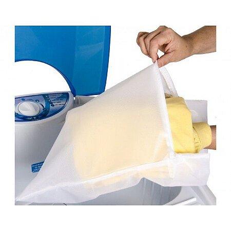 Saco para Lavar Roupas 50x45cm Ótimo para Roupas de Bebês