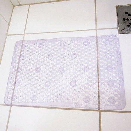 Tapete para Box do Banheiro Antiderrapante com Ventosas