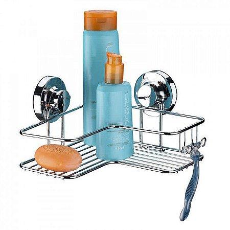 Cantoneira para Shampoo e Sabonete com Ventosas de Alta Sucção - Praticitá - 5 Anos de Garantia