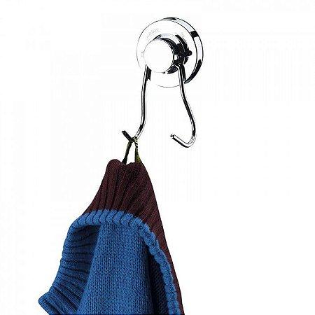 Gancho Duplo Multiuso com Ventosa de Alta Sucção - Praticitá - 5 Anos de Garantia
