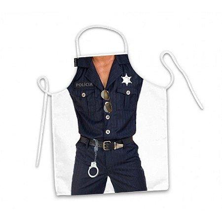 Avental de Cozinha Divertido Homem Policial