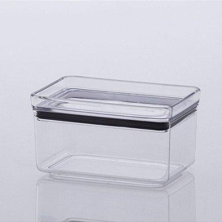 Pote Hermético Lumini Empilhável 580ml 7,5x13x8,5cm em Acrílico
