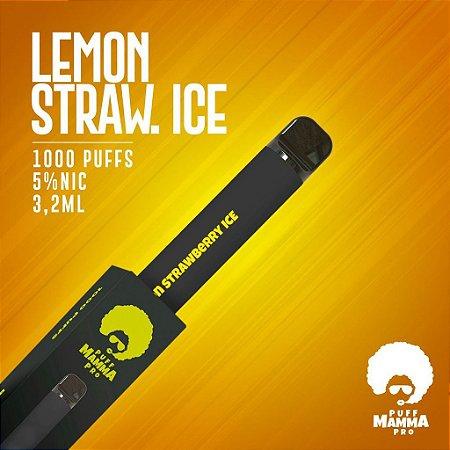 Pod descartável Puff Mamma - Pro - 1000 Puffs - Lemon Strawberry Ice
