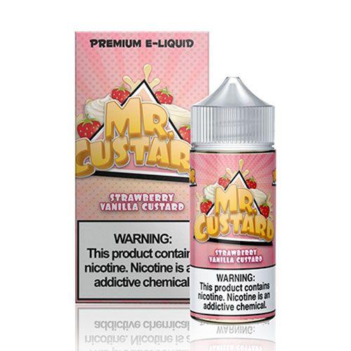 Líquido Strawberry Vanilla Custard - MR. CUSTARD