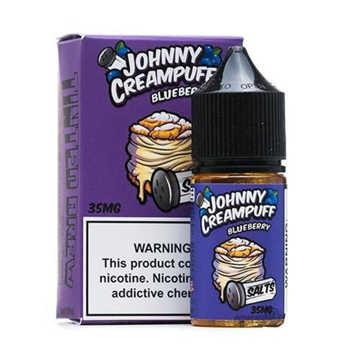 Líquido Johnny Creampuff Blueberry Salt - TINTED BREW LIQUID CO
