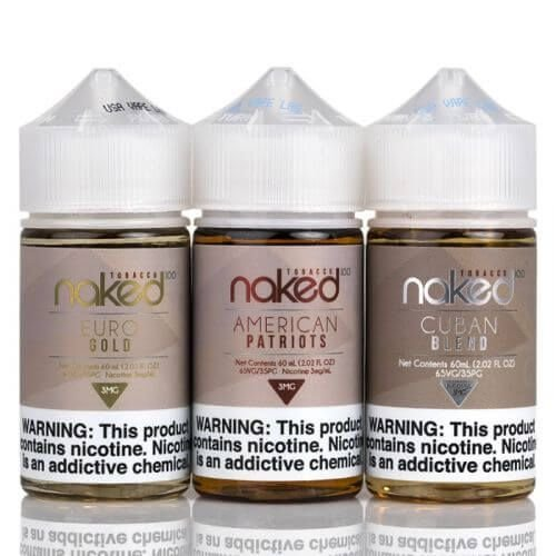 Combo 3 líquidos atabacados - Naked 100 Com nicotina