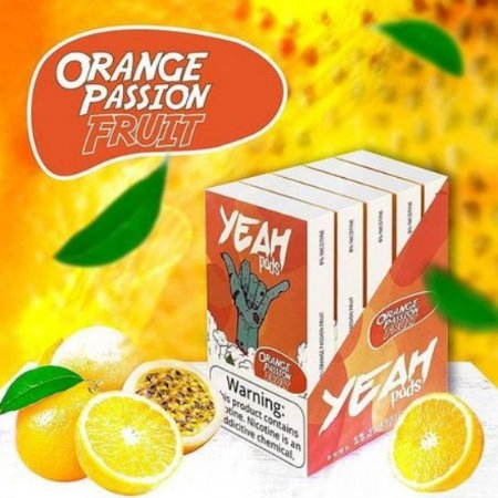 Yeah Pods Orange Passion Fruit - Compatíveis com JUUL - YEAH