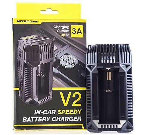 Carregador de Bateria Rápido para Automóvel - V2 - Nitecore