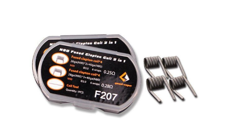 Resistência 2 em 1 N90 Fused Clapton - F207 - Geek Vape