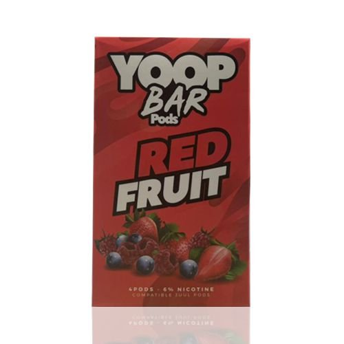 Yoop Bar Red Fruit - Compatíveis com Juul - Yoop Vapor