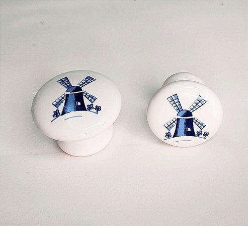 Puxador Porcelana Branca Moinho