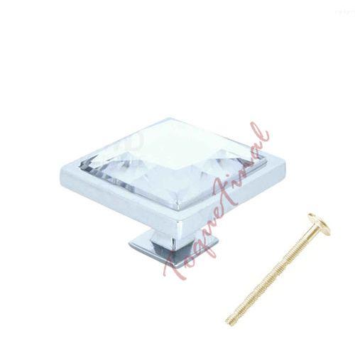 Puxador Gardênia Cristal Branco