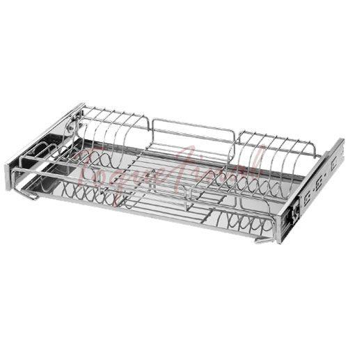 Porta Pratos  Aéreo com Bandeja Inox 570x70mm