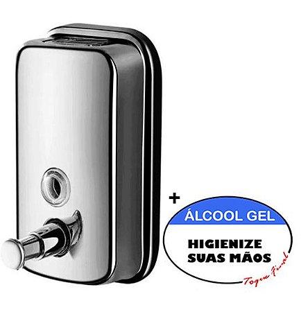 Dispenser Sabonete Líquido e Álcool Gel 1Litro - Inox