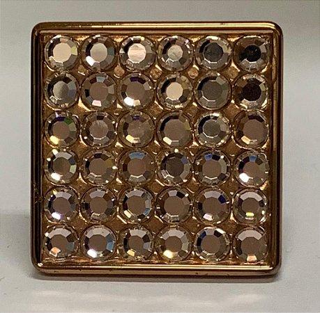 Pux Botão Frésia 35mm - Rose Gold