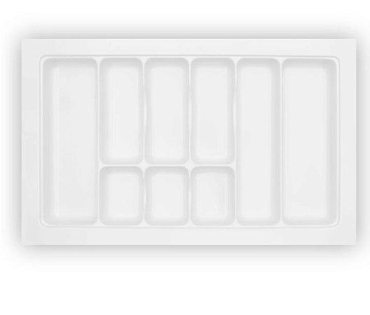 Organizador de Talheres Divisórias Grandes Branco OG- 073 77,5x47,5cm