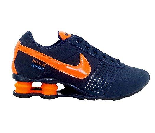 b6e5874bfbb Tênis Nike Shox Deliver Azul Marinho e Laranja - esiprodutos
