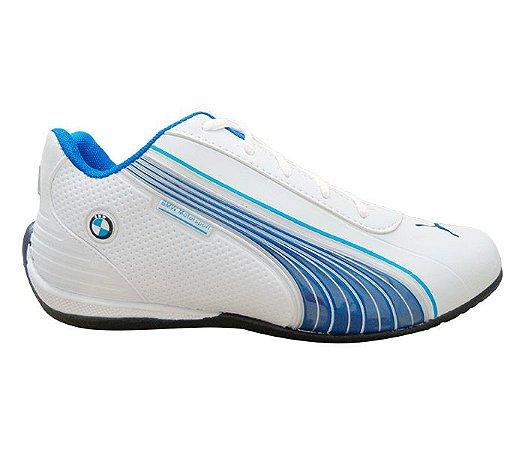 39a7607089b01 Tênis Puma BMW Motorsport Branco e Azul - esiprodutos