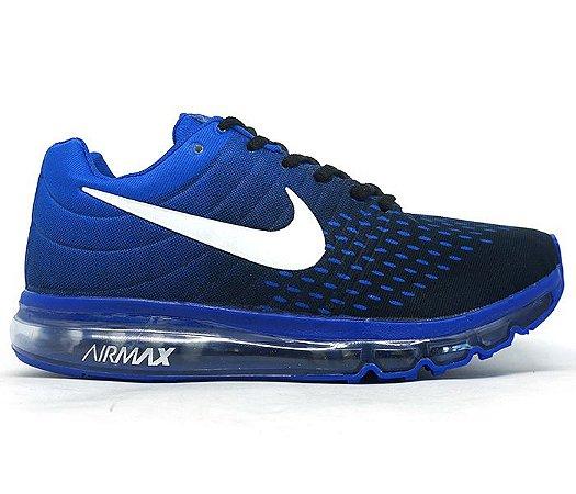 0a129319f83 Tênis Nike Air Max 2018 Azul e Preto