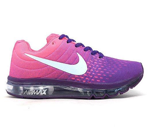 Tênis Feminino Nike Air Max 2018 Rosa E Lilás