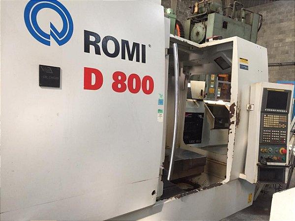 Centro de Usinagem Romi D800