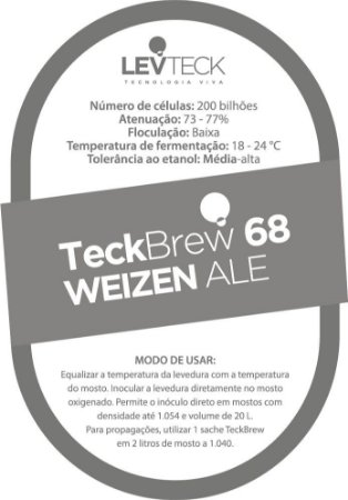 Fermento / Levedura TeckBrew 68 -  WEIZEN ALE