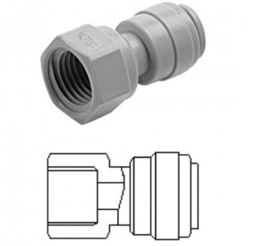 DMFit Engate Rapido Tubo 3/8 x 1/4 NPT Femea AFA0604