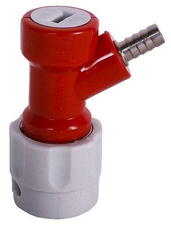 Conector Pin Lock Gás IN Curto (vermelho e cinza) - Espigão